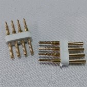 4 Pins Connector for DC 24V RGB LED Neon Flex Light SMD 5050 10Pcs
