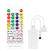 LED Controller Bluetooth Music App for 2835 5050 RGB RGBW Light Strip 5V-24V