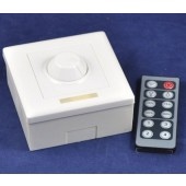 Wall Mounted 12-Key RF Remote Control LED Dimmer 12V 24V