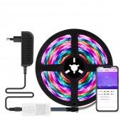 Bluetooth RGB Strip Light WS2812B Led Stripe Party Home Decoration Lightings 5M Set