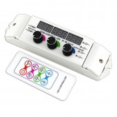 Bincolor Led Controller BC-350RF 12v-24v 3CH Display 3CH Rotary Remote Control