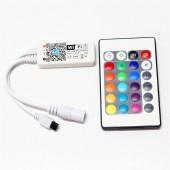 DC 5V 12V 28V WiFi LED RGB / RGBW Controller iOS Android APP 24Key IR Remote