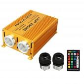 32W RGB LED Optic Fiber Engine Light Source 2 Holes with Remote