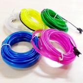 3M 5M Flat Thin EL Wire Neon Light Electroluminescent Lighting Tape 2Pcs