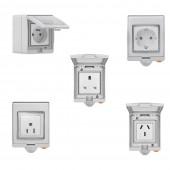 SONOFF S55 Wifi Smart Home Waterproof Power Socket Via Ewelink APP Control Alexa Google IFTTT
