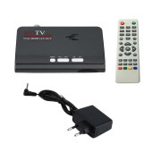DVB-T DVB-T2 TV Satellite Tuner Receiver DVB T/T2 TV Box VGA AV CVBS 1080P HDMI Digital HD With Remote Control