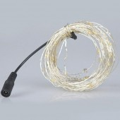 10M 100 LEDs DC 12V Fairy Light Copper Sliver Wire LED String
