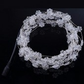 Snowflake Shape Fairy Light Snow White 33ft 10M 100 LED Copper String 12V