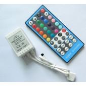 DC 12V 24V RGBW Controller 8A IR Remote Control