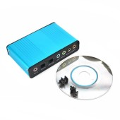 USB 6 Channel 5.1/7.1 Surround External Sound Card PC Laptop Desktop Tablet Audio Optical Adapter Card
