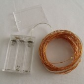 Warm White 10M 100 LED Copper Wire Fairy Light Battery Powered Holiday String 2pcs