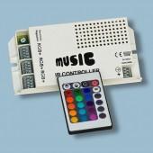 White Music Sound Controller IR Remote RGB LED Light Controller