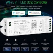 WL5 Wifi Alexa SPI Voice 5 in 1 Controller Dimmer LED Light Strip IOS Android APP Control