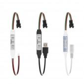 WS2812B WS2811 Controller USB Mini 3 keys 4 keys for Pixel LED Strip Light 5V-24V 5pcs